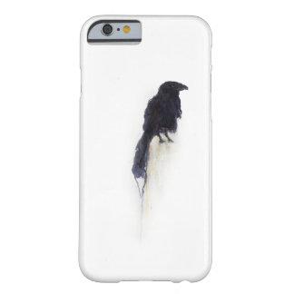 """Cuervo del """"testigo"""" - en nieve del invierno funda para iPhone 6 barely there"""