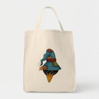 Cuervo divertido bolsa tela para la compra