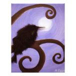 Cuervo en claro de luna membrete a diseño