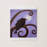 Cuervo en claro de luna puzzle