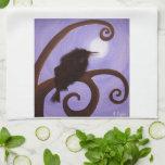 Cuervo en claro de luna toallas