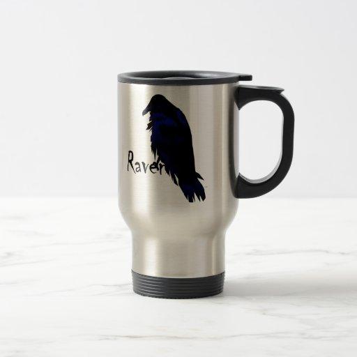 Cuervo en cuervo tazas