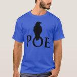 Cuervo en la palabra escrita POE Playera