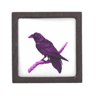 Cuervo en regalos púrpuras por Sharles Caja De Regalo De Calidad