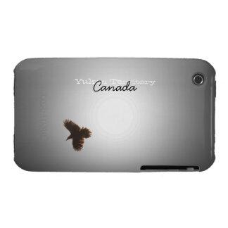 Cuervo en vuelo; Recuerdo del territorio del Yukón Funda Bareyly There Para iPhone 3 De Case-Mate