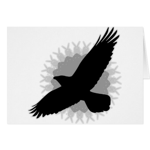 Cuervo en vuelo tarjeta de felicitación