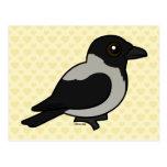 Cuervo encapuchado de Birdorable Postal