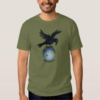 Cuervo encima del mundo poleras