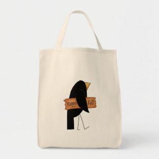 cuervo feliz del negro de la caída bolsa tela para la compra