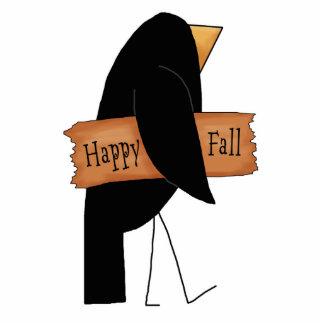 cuervo feliz del negro de la caída fotoescultura vertical