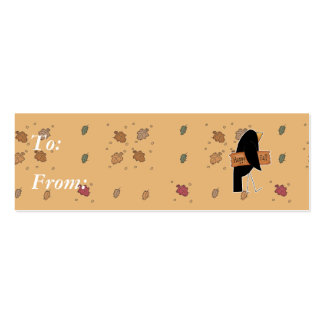 cuervo feliz del negro de la caída tarjetas de visita mini