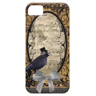 Cuervo gótico del boda del vintage divertido iPhone 5 Case-Mate protectores