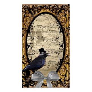 Cuervo gótico del boda del vintage divertido tarjetas de visita