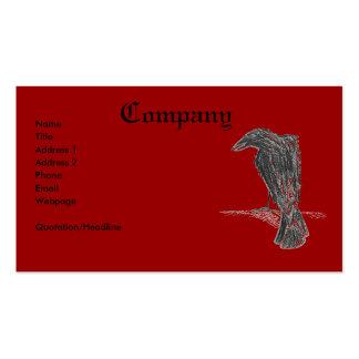 Cuervo/impresión insanos plantilla de tarjeta de negocio
