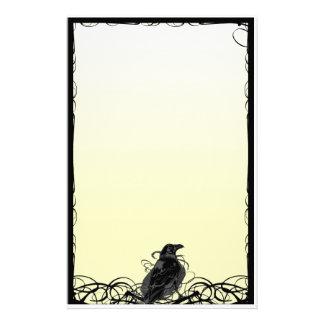 Cuervo inmóvil papeleria personalizada