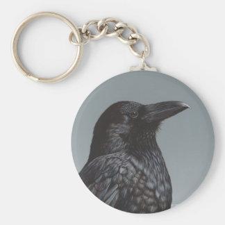 Cuervo Llavero Redondo Tipo Pin