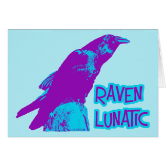 Cuervo loco tarjeta