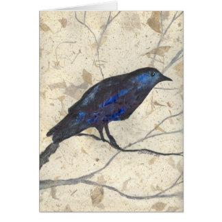 Cuervo misterioso del invierno tarjeta pequeña