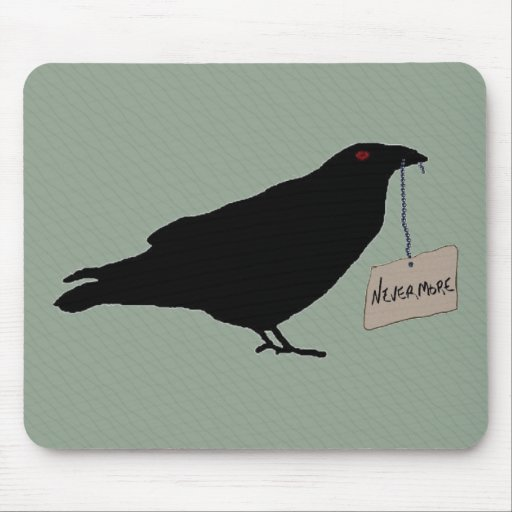 Cuervo misterioso Mousepad