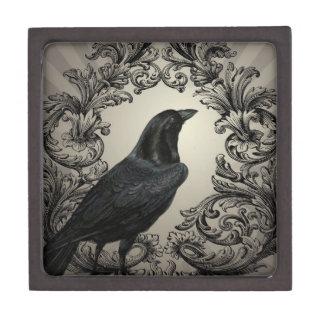 cuervo moderno de Halloween del vintage Caja De Recuerdo De Calidad