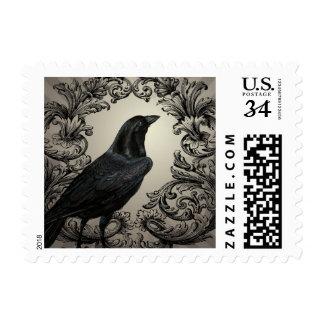 cuervo moderno de Halloween del vintage Sellos