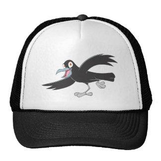 Cuervo negro alegre gorras de camionero