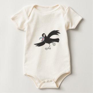 Cuervo negro alegre mameluco de bebé