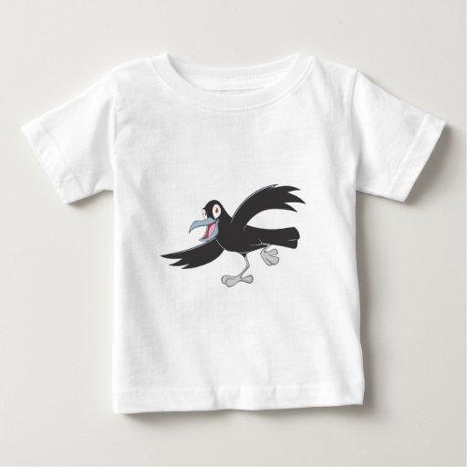 Cuervo negro alegre remeras