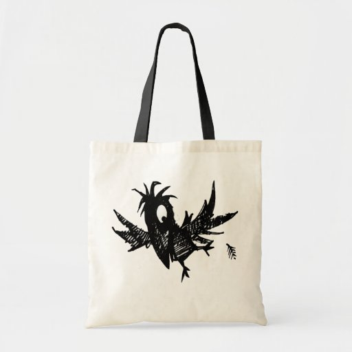 Cuervo negro bolsas lienzo
