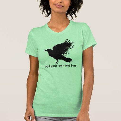 Cuervo - negro camisetas
