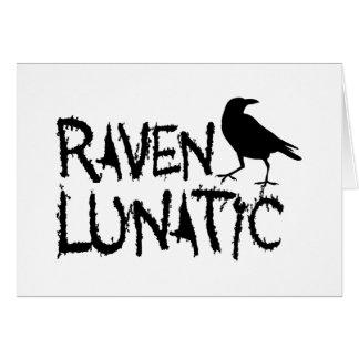 Cuervo negro loco del cuervo tarjeta de felicitación