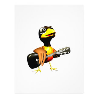 Cuervo negro que juega el gráfico de la guitarra tarjeta publicitaria