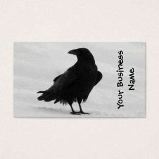 Cuervo orgulloso tarjetas de visita