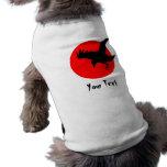 Cuervo oscuro camisa de mascota