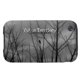 Cuervo oscuro; Recuerdo del territorio del Yukón Funda Though Para iPhone 3