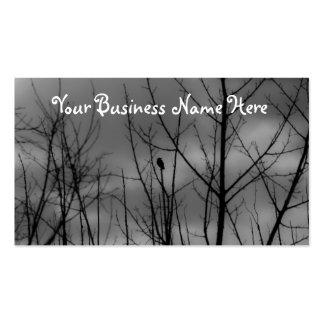 Cuervo oscuro tarjetas de visita