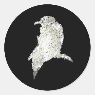 Cuervo Pegatinas Redondas