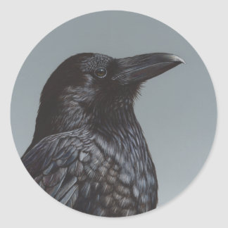 Cuervo Pegatina Redonda