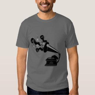 Cuervo que juega la camiseta de Victrola Remera