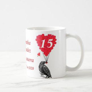 Cuervo romántico personalizado Quinceanera Tazas De Café