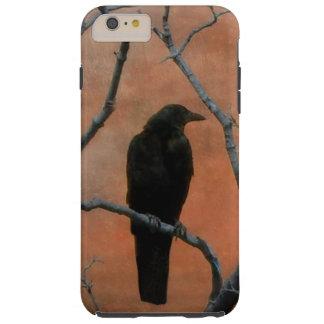 Cuervo rústico funda para iPhone 6 plus tough