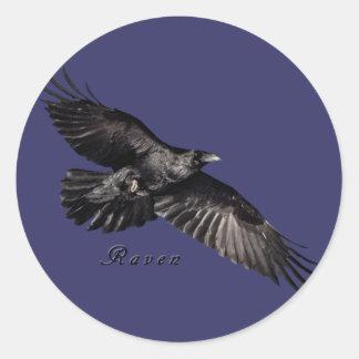 Cuervo Stckers Etiquetas Redondas