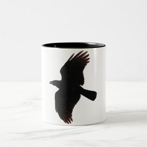 cuervo taza de café de dos colores