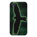 Cuervo verde iPhone 4/4S fundas