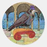 Cuervo vestido pozo etiqueta redonda
