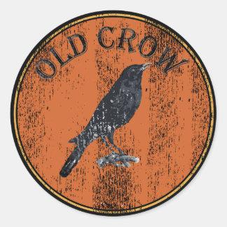 Cuervo viejo - viejo Geezer Etiquetas Redondas