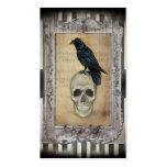 Cuervo y cráneo plantillas de tarjetas de visita