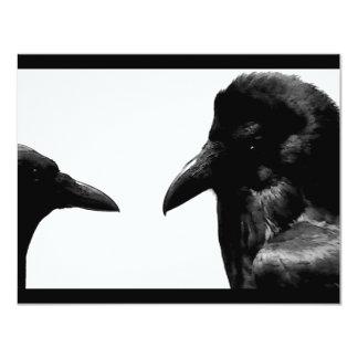 """Cuervo y cuervo invitación 4.25"""" x 5.5"""""""
