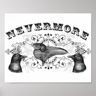 Cuervo y cuervos nunca más poster