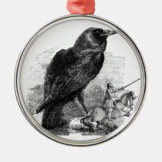 Cuervo y el caballero ornamentos para reyes magos